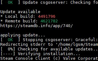 LinuxGSM update